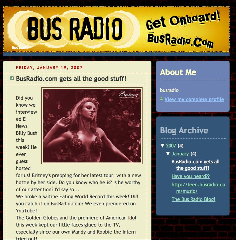 BusRadio's Blog